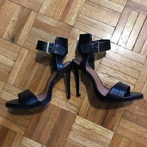 ALDO black heels, barely worn, size 5